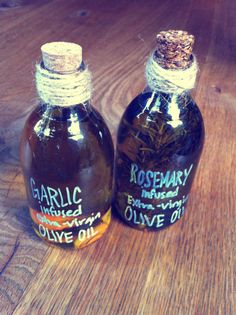 Homemade infused olive oil - might be making this with my rosemary for gifts.