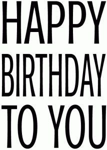 happy birthday block