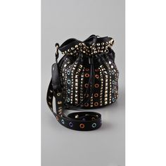 M Missoni Studded Pouch Bag (€240) found on Polyvore