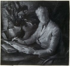 """Study for """"Dame Mary Gilmore"""" by Joshua Smith"""