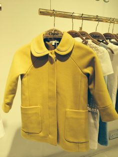 Stunning mustard wool coat from Chloe Kids fashion for fall 2014