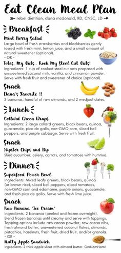 One Day Meal Plan | rebelDIETITIAN.US