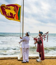 Most traditions are still very much alive at The #Gallefacehotel as the #srilankan flag is lowered every evening as a nod to our rich heritage.