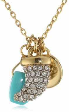 juicy couture jewelry pave horn charmy necklace