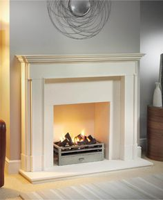 10 Exceptional Cool Tips: Fireplace Cover Hidden Tv gas fireplace decor.Old Limestone Fireplace whitewash fireplace surround. Fireplace Tile Surround, Fireplace Cover, Bedroom Fireplace, Faux Fireplace, Fireplace Surrounds, Fireplace Design, Limestone Fireplace, Fireplace Kitchen, Fireplace Inserts
