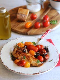 Poulet olives noires tomates