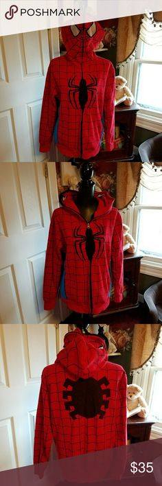 HOST PICK🌸MENS, Spiderman Sweater NWOT, awesome Marvel Spiderman Sweater. Authentic Marvel Sweaters Zip Up