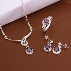 Moda-925-da-sposa-di-gioielli-in-argento-blu-rosso-viola-bianco-anello-di-cristallo-orecchini.jpg (600×600)