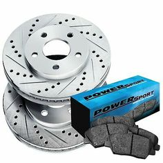 Fit 2002-2005 Ford Explorer Front Rear PowerSport Gold Slotted Brake Rotors