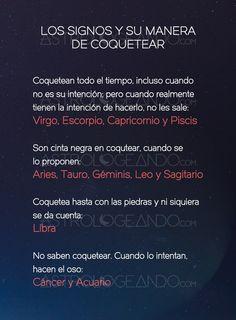 Los signos y su manera de coquetear #Astrología #Zodiaco #Astrologeando