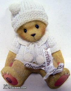 "Cherished Teddies BIANCA ""Sweet Dreams My Little One"" 533297 Condition is Used. A few minor scuffs. Clay Bear, Cola Cake, My Teddy Bear, Boyds Bears, Love Bear, Cuddles, Precious Moments, Mice, Cute Art"
