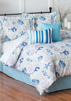 Home Accents® Turnstyles Sea Coast Reversible 6-Piece Bedding Ensemble