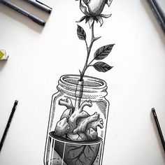 Videos black and white illustration, black and white sketches, sk Dark Art Drawings, Pencil Art Drawings, Art Drawings Sketches, Tattoo Sketches, Tattoo Drawings, Cute Drawings, Drawing Drawing, Kunst Tattoos, Anatomy Art