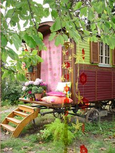 Gypsy hide away.  I would love to have one of these to park in my back yard and keep it off limits for everyone else!