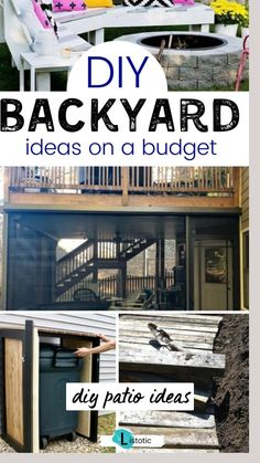 Backyard Bar, Backyard Playground, Backyard Landscaping, Diy Deck, Diy Patio, Pallet Patio Furniture, Budget Patio, Backyard Makeover, Outdoor Projects