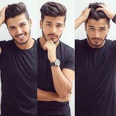# fashion for men # men's style # men's fashion # men's wear # mode homme Cool Hairstyles For Men, Hairstyles Haircuts, Haircuts For Men, Classic Mens Hairstyles, Hair And Beard Styles, Curly Hair Styles, Gents Hair Style, Beard Haircut, Oldschool