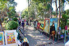 Bazaar del Sábado, San Ángel, Cd. de México . Galeria y Bazaar al aire libre.