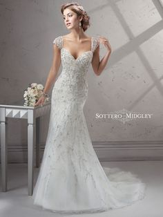 KleinfeldBridal.com: Sottero & Midgley: Bridal Gown: 32994832: Sheath: No Waist/Princess Seams