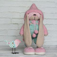Фотография Doll Toys, Dolls, Amigurumi Toys, Crochet Toys, Crochet Patterns, Bunny, Bear, Knitting, Rabbits