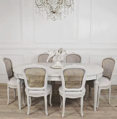 Antique french country dining table set  by FullBloomCottage, $3295.00
