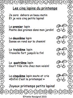 Nursery Rhyme and IN Sound Activities in French I French phonics activities French Teaching Resources, Teaching Time, Teaching French, Teaching Ideas, Easter Songs, French Poems, Kindergarten Language Arts, Learning Logo, Core French