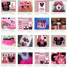 Honeyprint: Minnie Mouse Birthday Party Ideas  Inspiration