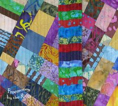 Using up your batik scraps and creating new fabric - Freemotion by the River