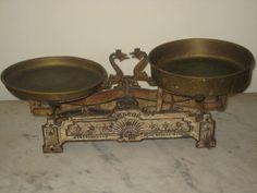 Old Scale Europe 1850 1899 Roberval Cast Iron Beranger Balance Copper Trays | eBay