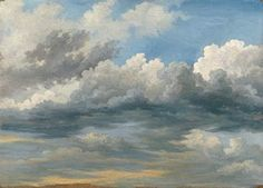 Clouds Study, Jean-Michel Cels, about 1838–42. The Thaw Collection, The Morgan Library & Museum.  Photography by Schecter Lee