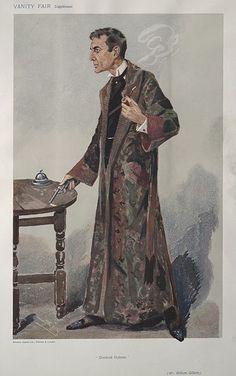 William Gillette as Sherlock Holmes, Vanity Fair, 1907