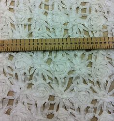 DESIGNER LACE FABRIC latest ribboned latice material AS SEEN ON THE CATWALKS | eBay