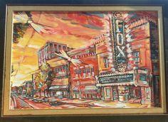 Fox Theater Sunset,  Tucson AZ- SOLD 24x36 osd #lisakanouseart http://lisakanouse.wordpress.com