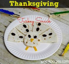 Easy Thanksgiving Turkey Snack for Kids- healthy, too!