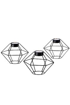 Ellos Home Diamant-kynttilälyhdyt, 3/pakk.