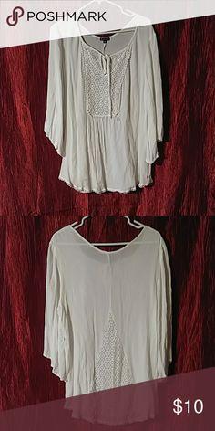 9e9517e5e0df Plus size New Direction blouse 1XL like new white New Direction blouse. Has  lace detail