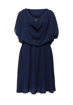Платье от Lamania Elegant с эластичный пояс. Модель выполнена из легкого текстиля. Детали: круглый в