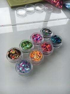 The entire Exclusive Glitter range 8 pots by JazzyGlitter on Etsy