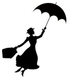 Mary Poppins Stencil everybody's favorite nanny Here's a stencil for you Disney . Mary Poppins Silhouette, Silhouettes Disney, Silhouette Cameo Projects, Silhouette Cameo Disney, Disney Castle Silhouette, Disney Princess Silhouette, Cartoon Silhouette, Silhouette Clip Art, Black Silhouette