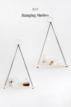 DIY Hanging Shelves Easy