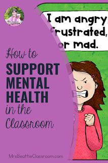 Mental health in the classroom is a growing concern. Support your students' mental health needs with the tips in this blog post and grab a FREE check-in station and printable. Classroom Board, Middle School Classroom, Primary Classroom, Elementary Teacher, Character Education Lessons, Behavior Rewards, 21st Century Classroom, Health Unit, Mental Health Problems
