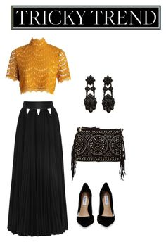 """""""Tricky Trend"""" by sarah-renea22 ❤ liked on Polyvore featuring Noir Jewelry, Steve Madden, Givenchy, women's clothing, women's fashion, women, female, woman, misses and juniors"""
