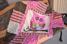 A Vision to Remember All Things Handmade Blog: Owl Applique Rag ...