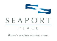 """Adapted from the Seaport Hotel logo, KHJ added depth and texture to the blue flags (which had previously been solid, flat blue) and created a logo that would be used in the hierarchy as the lead, complex brand for the 4-building site. KHJ also recommended retiring the individual branding/color schemes for each individual building and instead brand the whole complex as """"Boston's complete business center"""""""