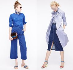 J.Crew 2016 Spring Summer Womens Lookbook Presentation - New York Fashion Week - Denim Jeans Sandals Blouse Skirt Frock Outerwear Coat Stripes Plaid Tartan Gingham Check 3D Embellishments Bedazzled Lace Up Shirtdress Wide Leg Trousers Palazzo Sailor Pants Culottes Sweater Jumper Pantsuit Shorts Vest Waistcoat Outerwear Blazer Jacket Miniskirt Jacquard Maxi Dress Fringes Sequins Wrap