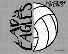 Lady eagles svg, volleyball svg, cut file, sports svg, mascot svg, shirt design, school shirt design, volleyball mom svg, cricut, iron on by ButtonsForBonnie on Etsy