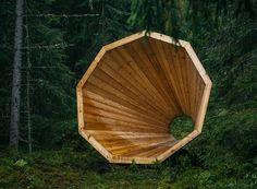 Forest megaphones, Estonia Photography: Tõnu Tunnel