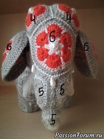 MATIN LUMINEUX: Eléphantes Indiennes au crochet Crochet Elephant Pattern, Loom Knitting Patterns, Crochet Flower Patterns, Crochet Toys Patterns, Crochet Flowers, African Flower Crochet Animals, Crochet Ball, Graphic 45, Stuffed Animal Patterns