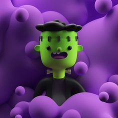 Selected Work 2017 by Adri¨¢n San Vicente 3d Character, Character Design, Character Reference, Happy Halloween Banner, Blender Models, Glass Bongs, Maxon Cinema 4d, 3d Max, Geometric Shapes
