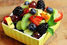 Fresh Fruit Salad with Lime-Honey Dressing
