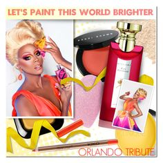 """Let's paint this world brighter: Orlando Tribute"" by anna-anica ❤ liked on Polyvore featuring beauty, Bare Escentuals, Bobbi Brown Cosmetics, Clinique and Bulgari"